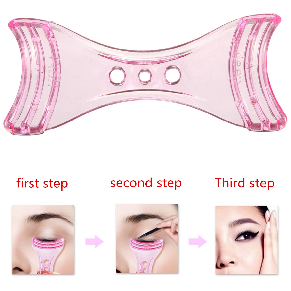 Make Up Easy Cosmetic Perfect Eyeliner Helper Crystal Aid Tool Practical