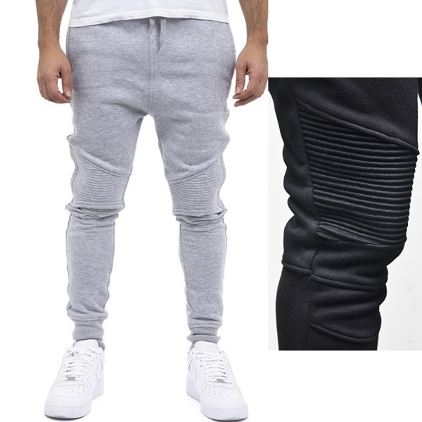 Gym Elastic Skinny Trousers Casual Harem Hip-hop Sweatpants Mens Fitness Jogger Pants