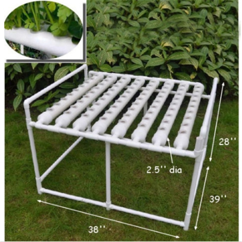 72 Sites Horizontal Hydroponic Grow Kit Plant Deep Water Garden DWC System Vegetable Planting Growing