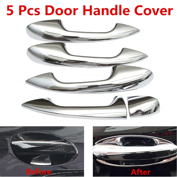Car Door LefT-handle Cover Trim Chrome ABS For Benz C-class W205