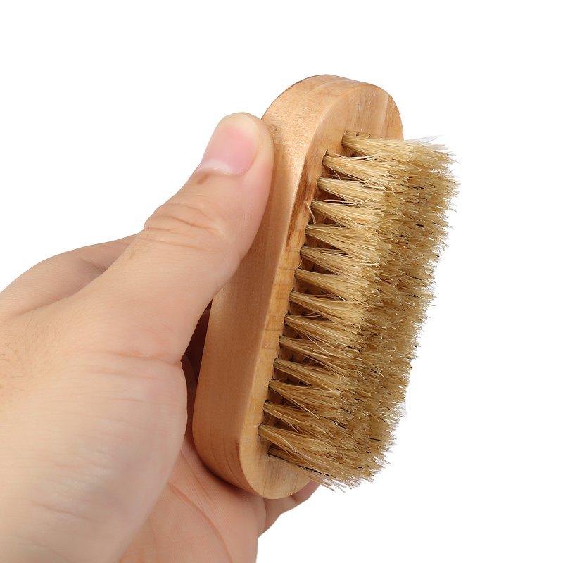 Portable Natural Boar Bristle Beard Men' s Mustache Wood Brush