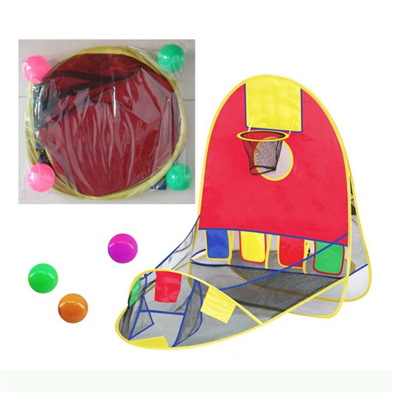 Ball Pool Basketball Scoring Play Tent House Kids Basket Tent Beach Lawn Indoor Outdoor