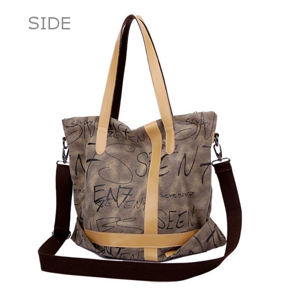 Women Men Canvas Tote Bags Letter Shoulder Bags Large Capcity Crossbody Bags Shopping Bags