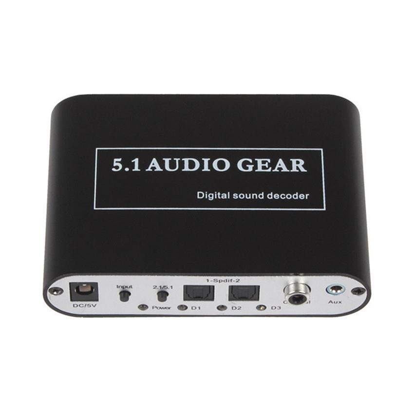 Digital Audio Decoder 5.1 Audio Gear DTS/AC-3/6CH Audio Converter LPCM To 5.1 Analog Output 2.1