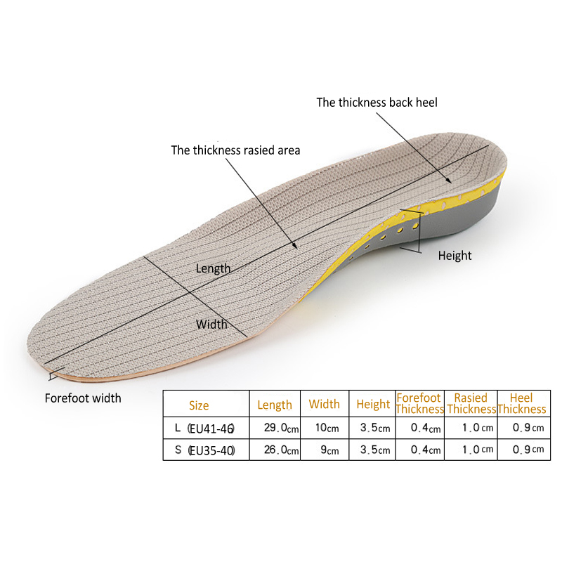 Functional Arch Insole Shock Absorption Orthopedic Pad