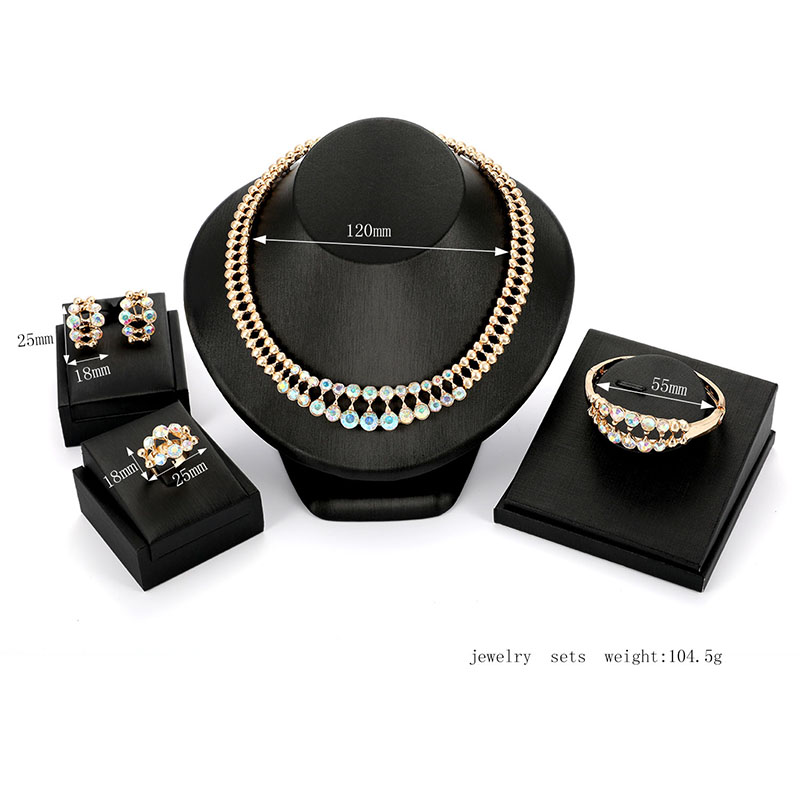 Set of Four Luxury Bridal Jewelry Set for Women