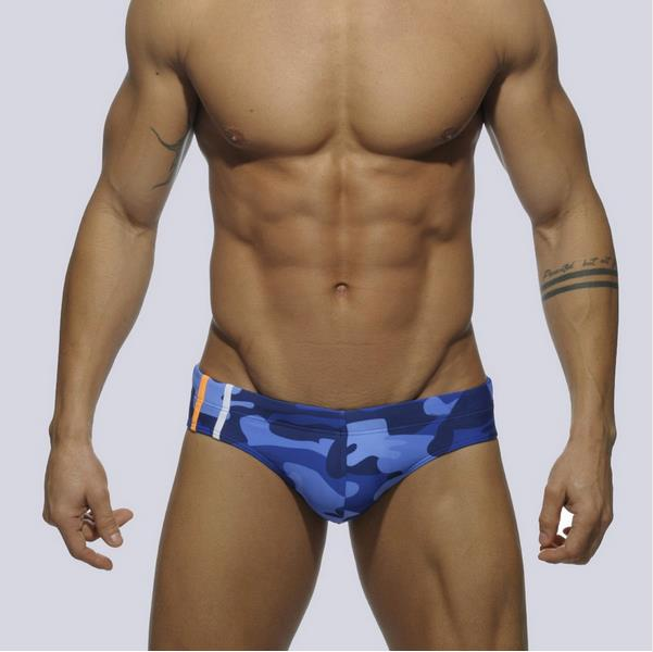 Addicted 9 Colors Sex Gay Mens Swimwear Men Elastic Swimsuit Man Quick Dry Swimming Trunks