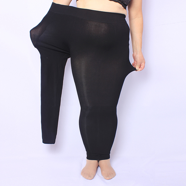 Plus Size Autumn Winter Modal High Waist Elastic Ninth Leggings Pantyhose For Women