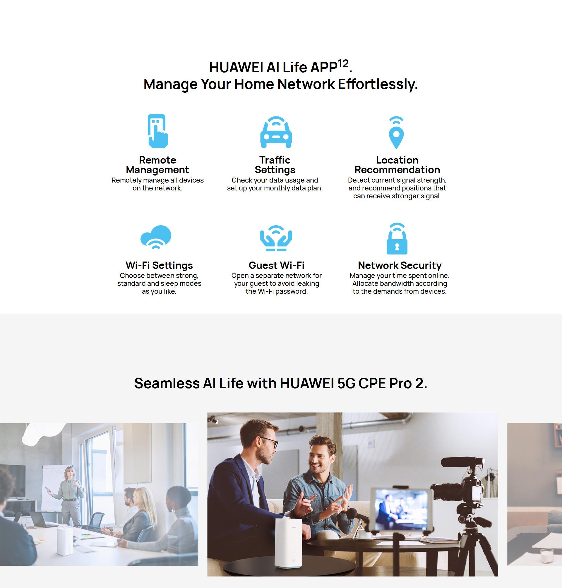 Huawei 5G CPE Pro2 Router Dual Mode Full Netcom Wi-Fi 6+ Game Turbo Wireless Router