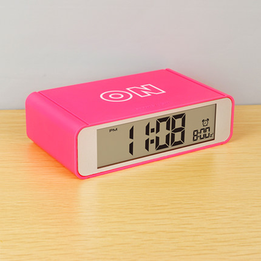 LED Touch Luminous Digital Electronic Creative Night Light Flip Snooze Mechanical Desk Alarm Clock Intelligent Digital Alarm Clock Table Clock Watches Electronic Top Touch Sensor Digital Alarm Clock D