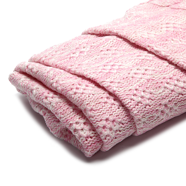 185x90cm Yarn Knitted Mermaid Tail Blanket Solid Color Handmade Crochet Throw Super Soft Sofa Bed Mat