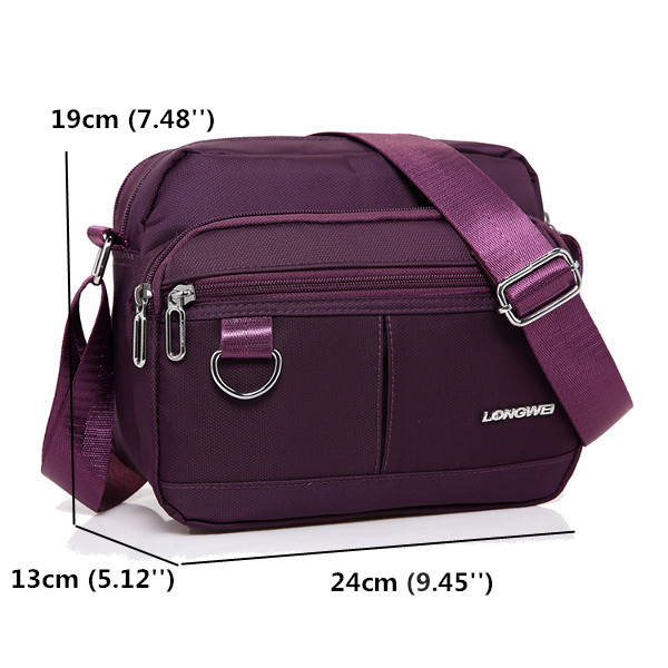 Women Nylon Shoulder Bags Casual Small Crossbody Bags Outdoor Light Sports Bags