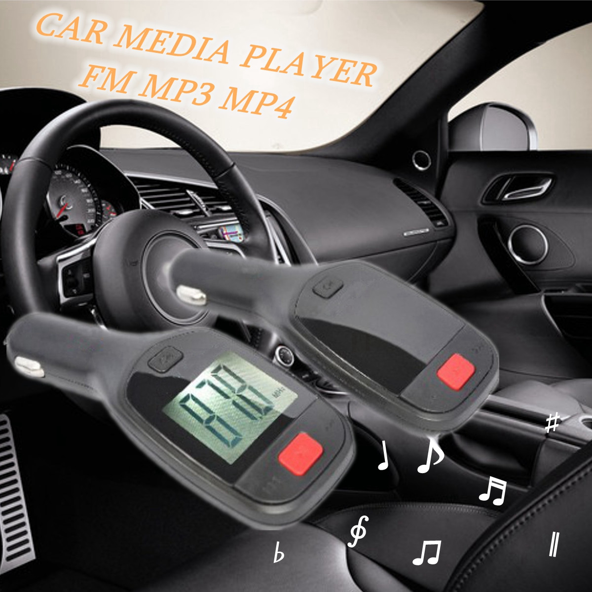 Wireless bluetooth Handsfree FM Transmitter TF Charger Cable Remote Car Kit For iphoneX 8 Samsung S8