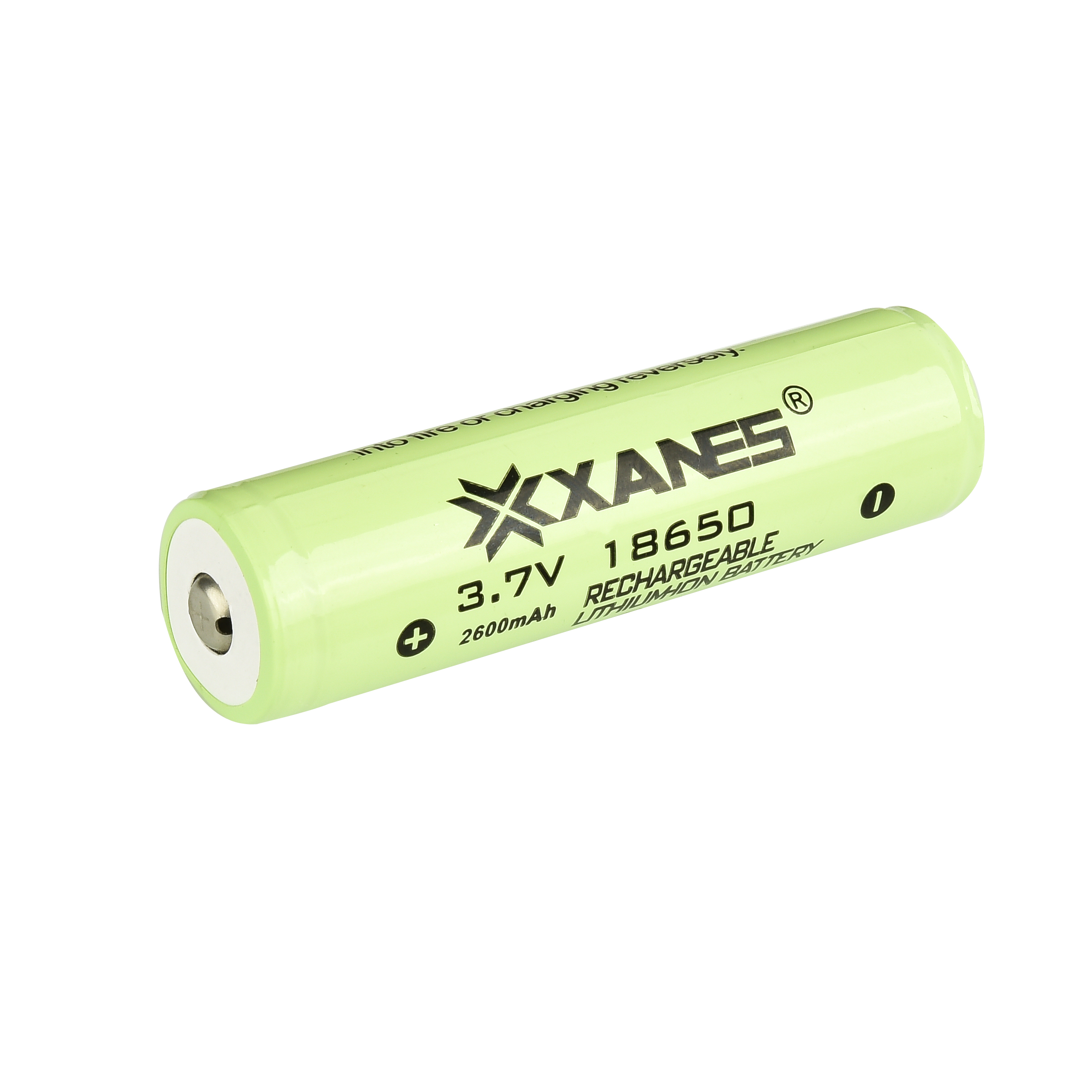 2PCS XANES 3.7V 2600mAh Protected Rechargeable 18650 Li-ion Battery