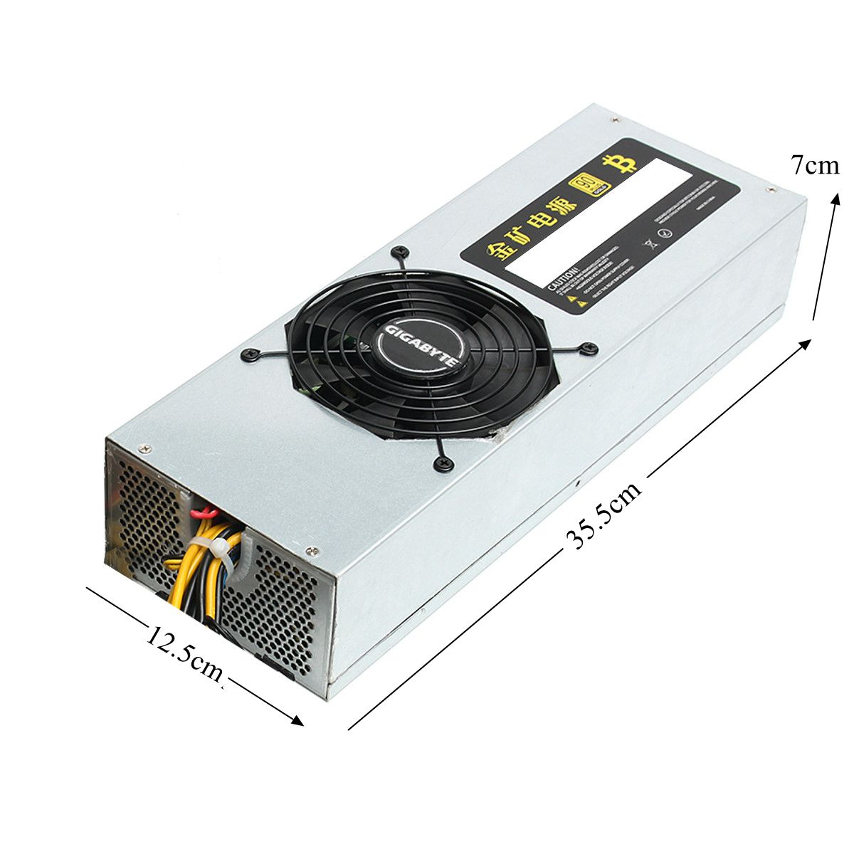 95% 2200W 24 Pin Mining Machine Power Supply For Antminer Eth S7 S9 Bitcoin Miner