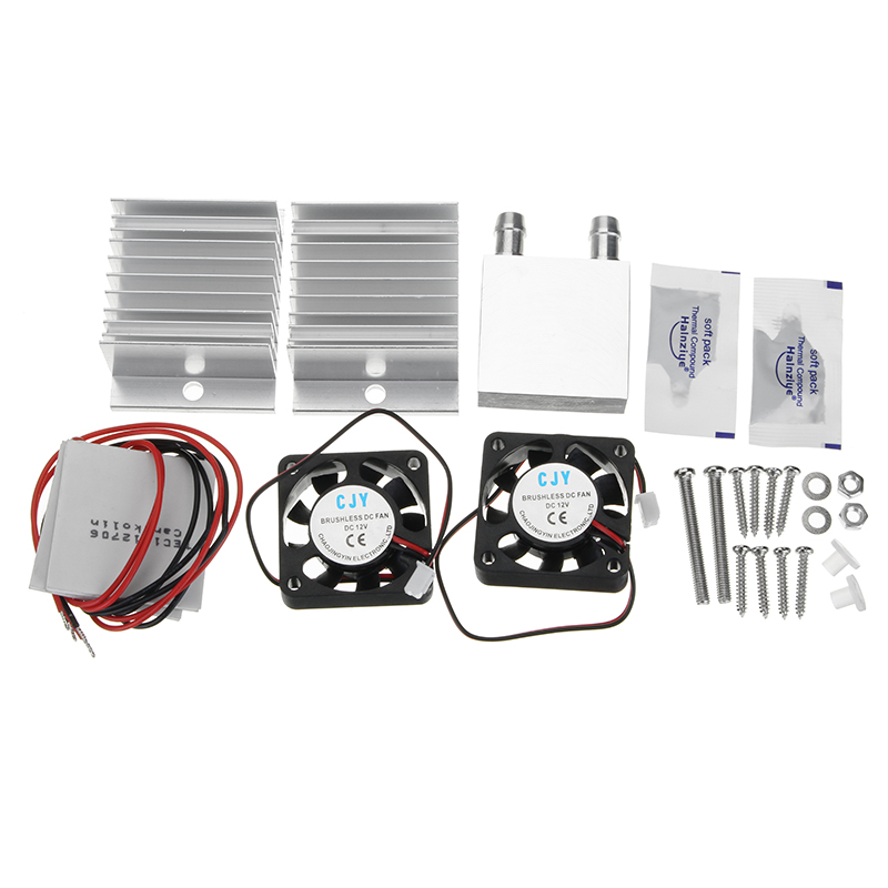 DIY Thermoelectric Peltier Refrigeration Cooling System Equipment With Fan And Double Cooling Plate