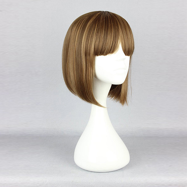 Lovely Cute Cosplay Costume Wig High-Temperature Resistance Synthetic Hair Short Straight