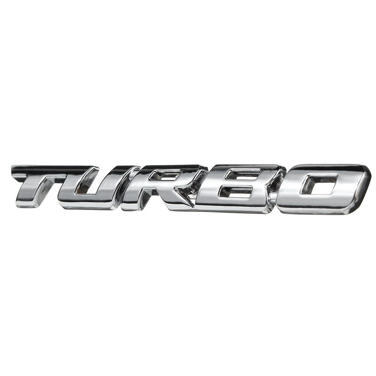 Turbo 3D Metal Car Decals Lettering Badge Sticker for Auto Body Rear Tailgate