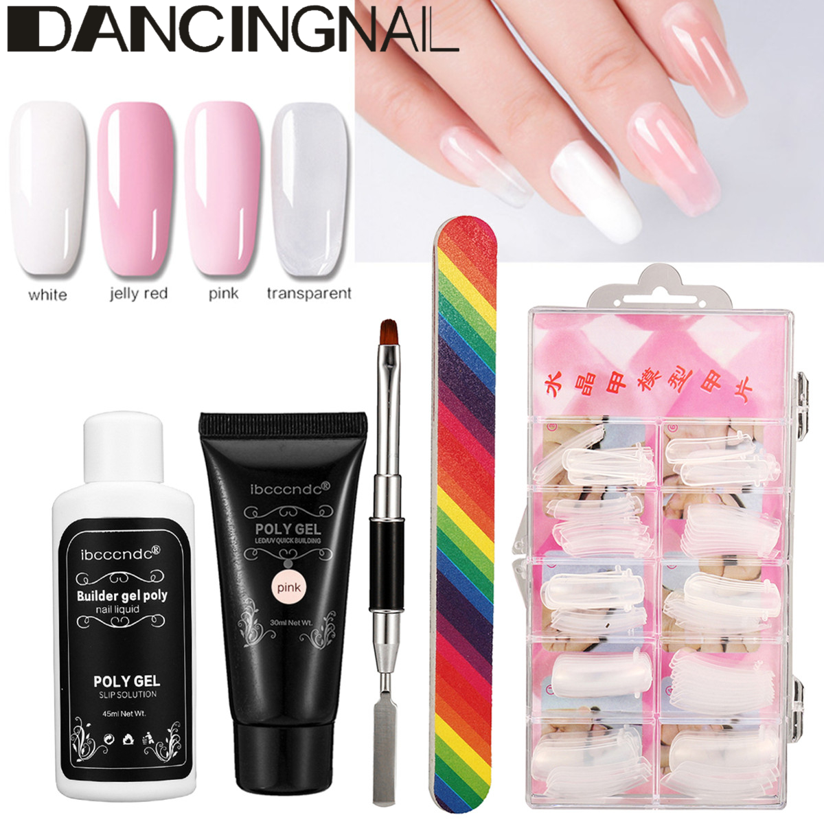 30ml Nail Extension Gel Builder Brush Set