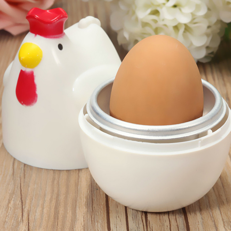 Home Chicken Shaped Microwave 1 Egg Boiler Steamer Cooker Kitchen Cooking Gadget Appliance Egg Cooker Cooking Tool Kitchen Gadget Accessories Tools Mini-wave Cooker Kitchen Tools