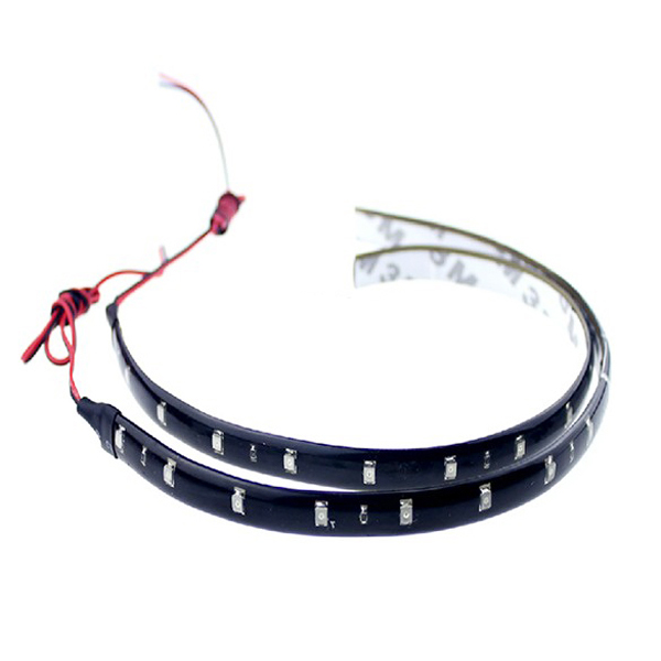 30cm 15LED 3528 Flexible Strip Car DRL Chassis Light Decoration Light Waterproof