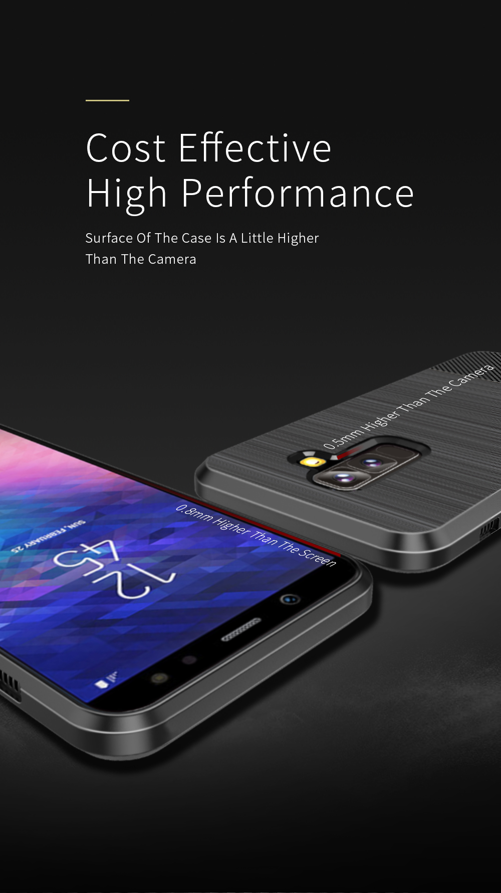 DUX DUCIS Magnetic Soft TPU Protective Case for Samsung Galaxy A6 Plus 2018