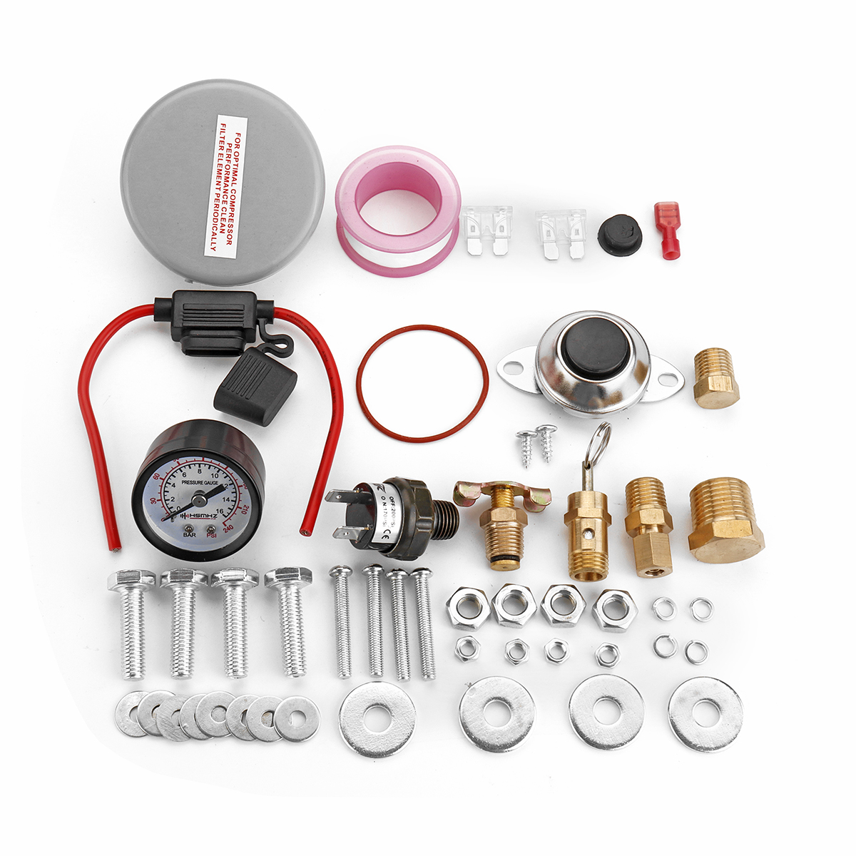 5 Gal Air Tank/200 PSI Compressor Onboard System Kit For Train Horn 12V