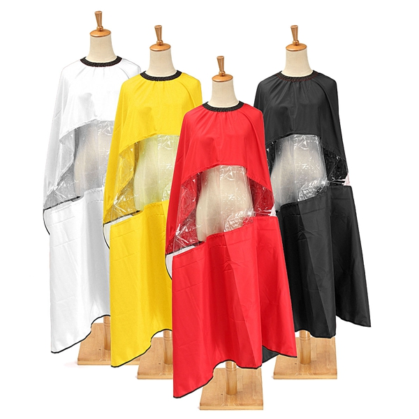 Adjustable Waterproof Cape Gown Viewing Window Salon Barber Coloring Hairdressing Haircut Cutting