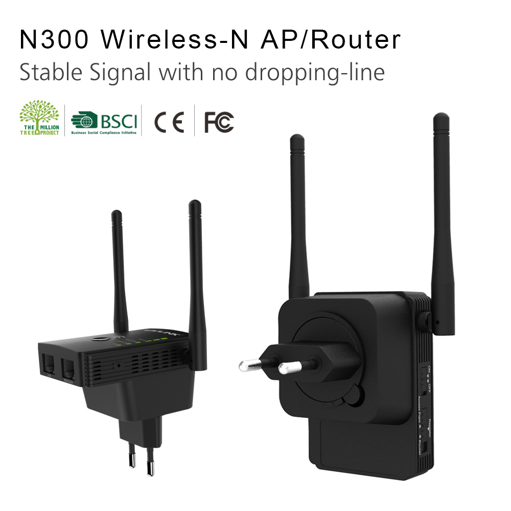 Wavlink WS-WN578 2.4G 300Mbps Wireless Router Wifi Repeater Booster Extender 2x5dBi Antennas