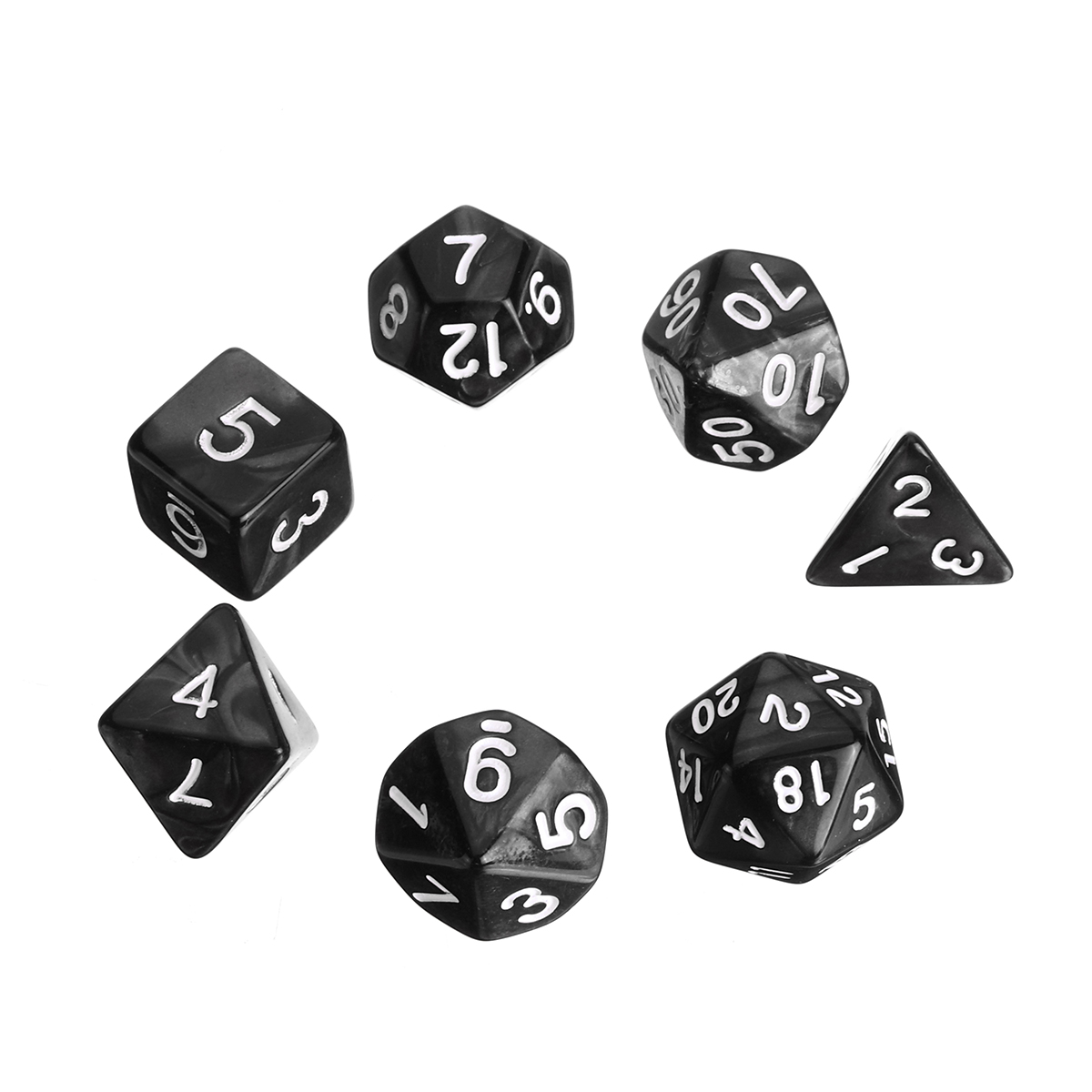 Multisided Dices Set Holder Polyhedral Dices Purple PU Leather Tray for RPG