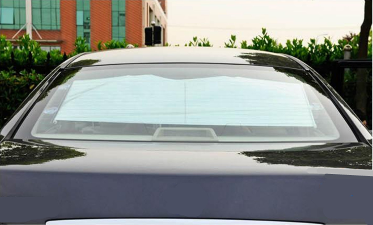 Retractable Car Reflective Windshield Window Sunshade Visor Heat Block UV Protector Folding Cover