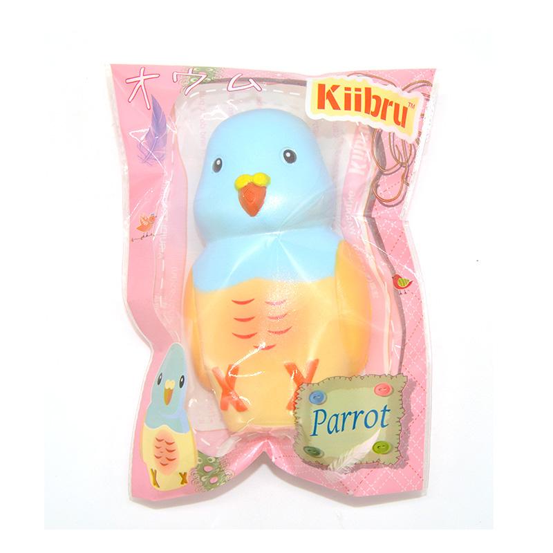 Kiibru Squishy Parrot Slow Rising Original Packaging Animal Pet Collection Gift Decor Toy