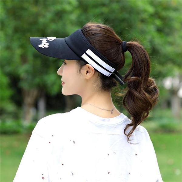 Stripe Visor Super Absorbent Breathable Baseball Hat