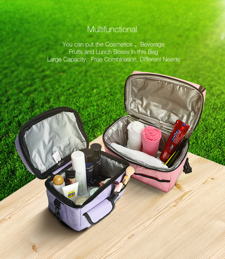 Travel BBQ Camping Picnic Lunch Insulated Cooler Cool Ice Bag Lunch Bento Bag Food Container