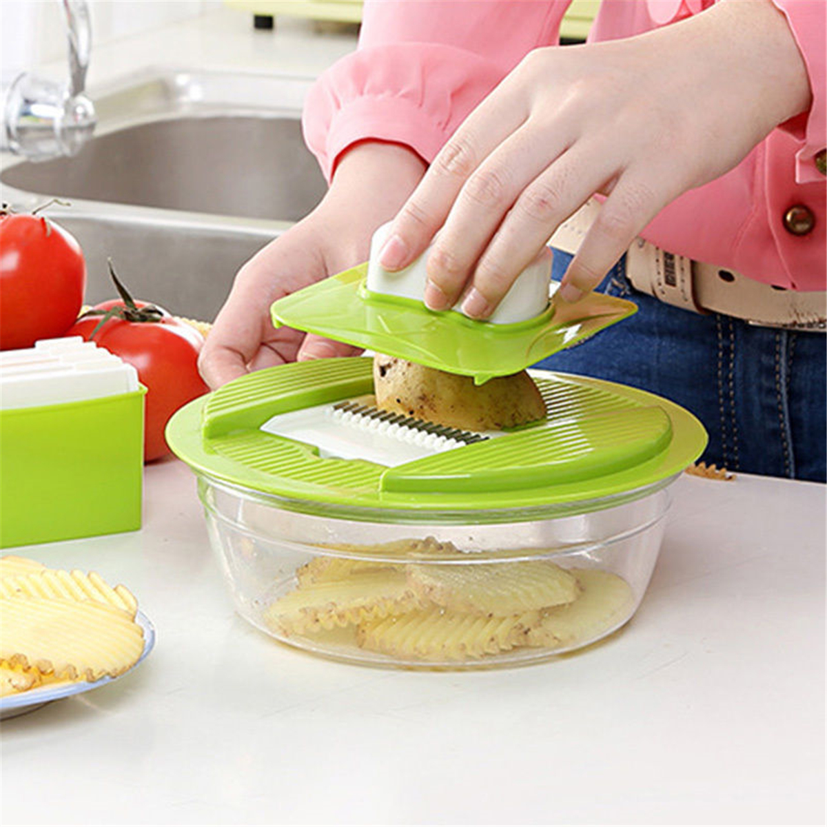 5 In 1 Multifunctional Fruit Vegetable Cutter Slicer Chopper Gadgets Tool Fruit Slicing Tools Vegetable Cutter