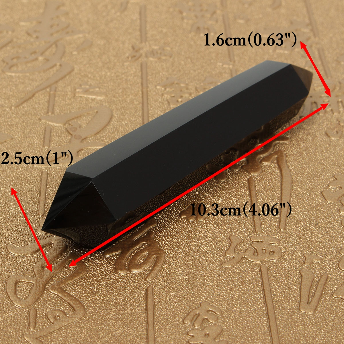 1 pc 120mm Natural Obsidian Double Terminated Healing Decoration DIY Jewelry