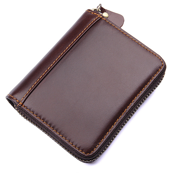 Details: Material Cowhide Color Coffee, Yellow, Red, Green, Dark Green Weight 110g Length 10.5cm(4.1') Height 9cm(3.5') Pattern Solid Inner Pocket 8*Card Slots, 2*Cash Slots Closure Zipper Package include: 1*Purse More Details: Disclaimer : About Size:Siz #purse