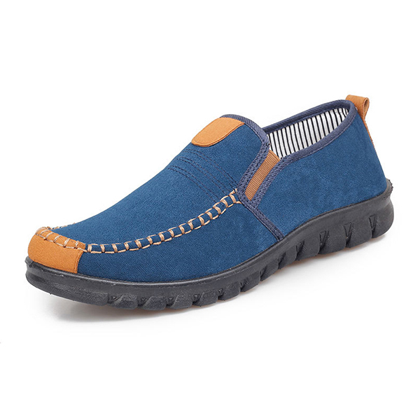 Men Comfy Frabric Casual Slip On Oxfords