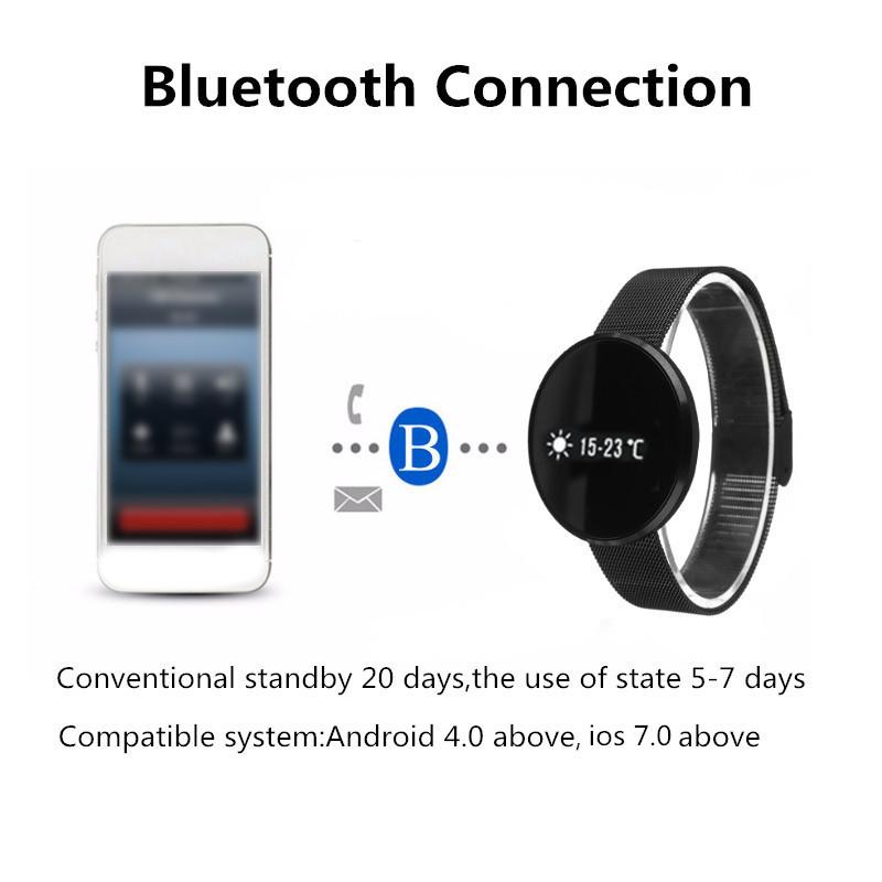 Bakeey CF006 Disk Touch Screen Heart Rate Blood Pressure Oxygen Monitor Smart Bracelet