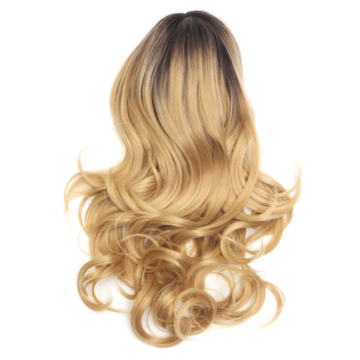 Long Wavy Hair Ombre Blonde Party Wigs