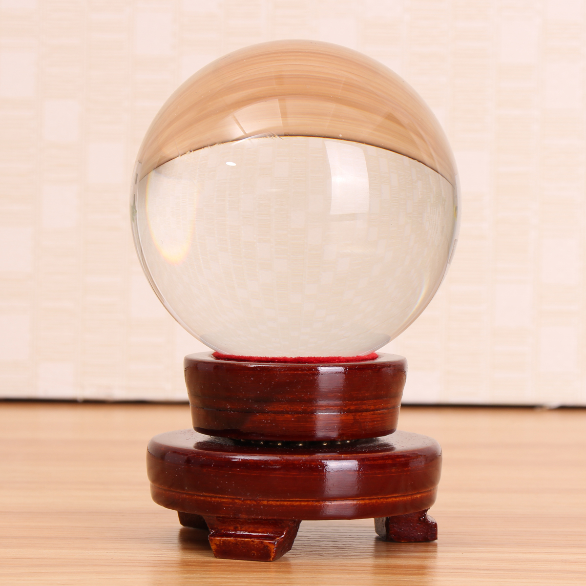 Clear Quartz Glass Magic Crystal Healing Ball Sphere With Stand Hobbies Kids Toys Home Decorations