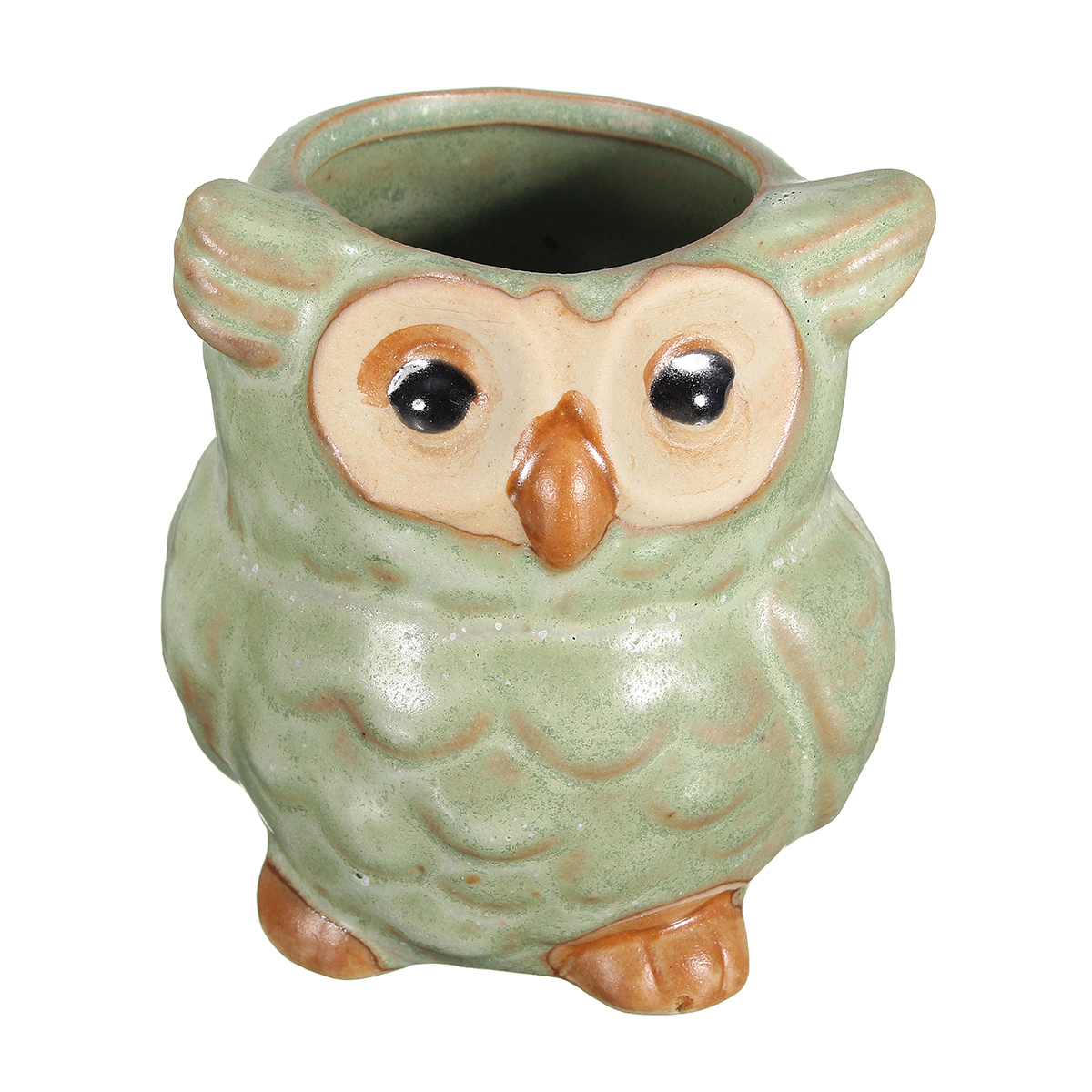 Garden Ceramic Owl Mini Flower Pot Succulent Plants Planters Office Desk Decor