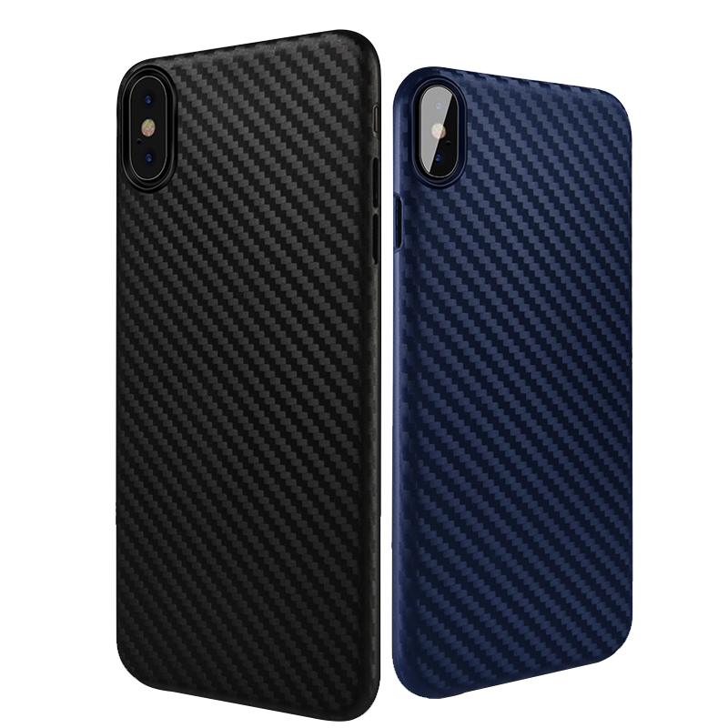 Bakeey Carbon Fiber Anti Fingerprint PP Case For iPhone X