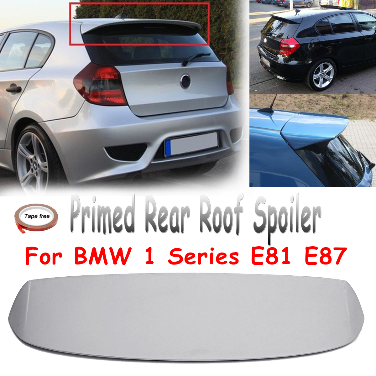 Unpainted Primed Rear Roof Trunk Car Spoiler Wing Fits For BMW 1 Series E81 E87 FRP