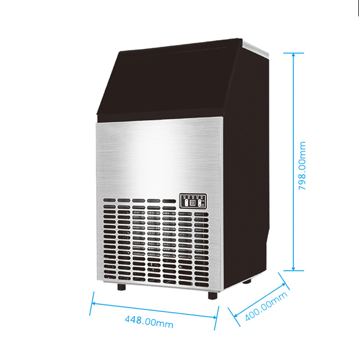 80kg/24hr Stainless Steel Commercial Ice Maker Ice Machine Icemaker Ice Making Tools Equipment