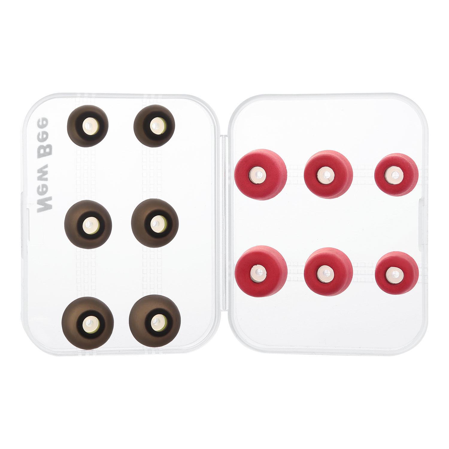 New Bee 3 Pairs of Rebound Memory Foam Tips 3 Pairs of Silicone Earbuds for Earphone Headphone