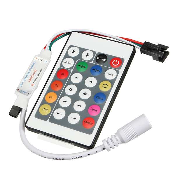 Mini 24Keys IR Remote Controller For WS2811 WS2812 WS2812B LED Strip Light DC5-24V
