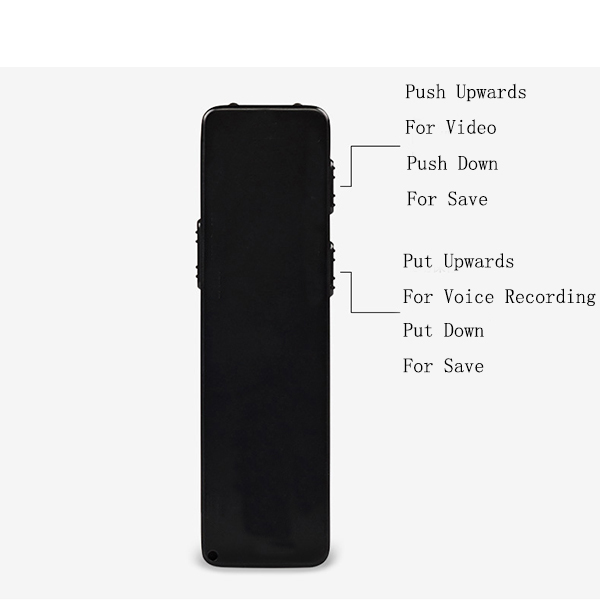 XANES Full HD 1080P Mini Camera Vlog Camera for Youtube Recording Night Vision 10H Continuous Digital Audio Video Recorder Voice Recording Pen