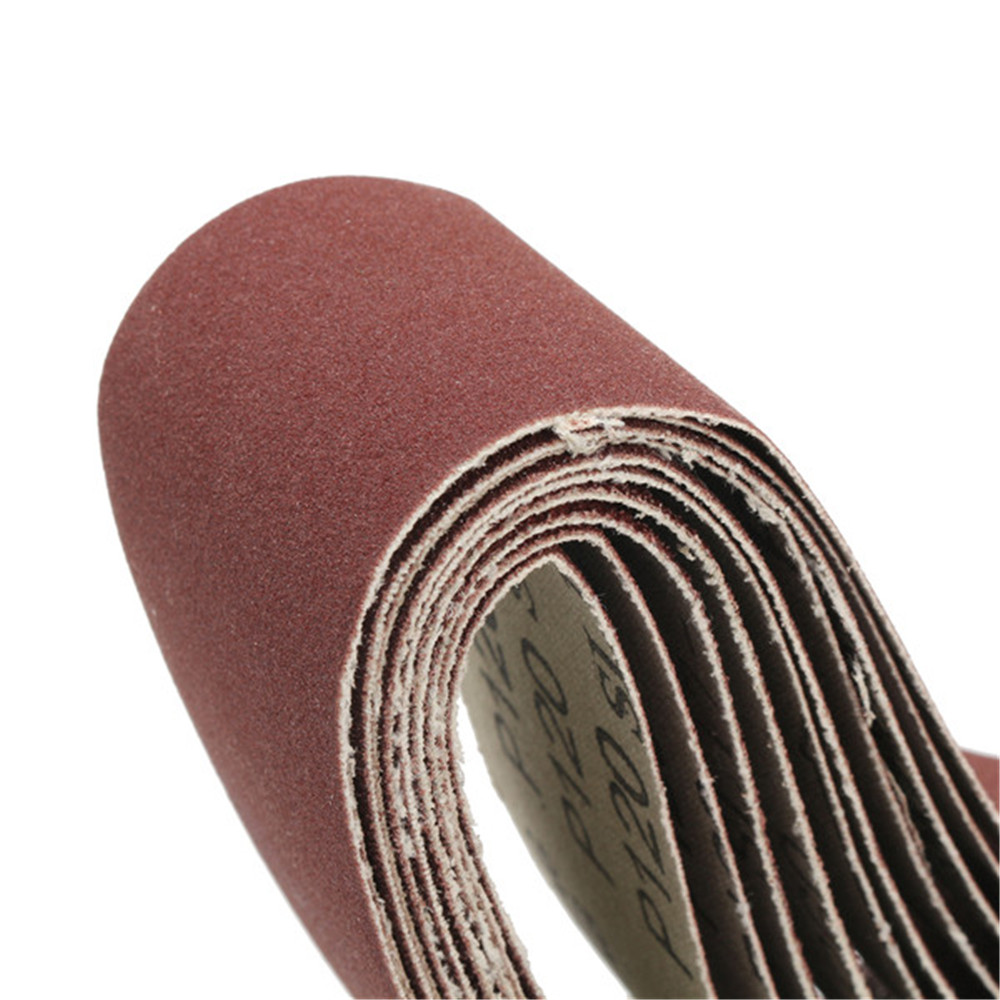 Drillpro 10pcs 40 to 150 Grit 40mm x 680mm Sanding Belts for Grinding Machine