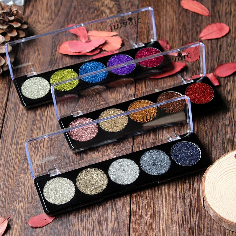 IMAGIC Eye Shadow Palette Glitter Bright Rainbow Cosmetic Make up Rainbow Diamond Pressed Eyeshadow